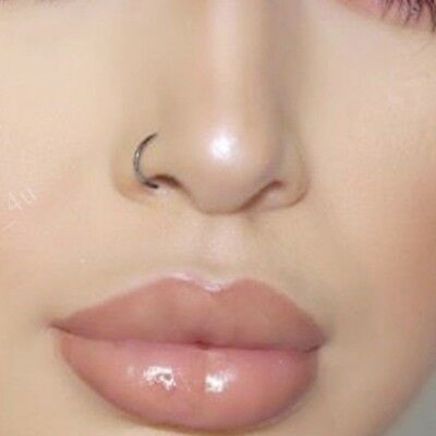 Fake Nose Ring Septum Ring Hoop Cartilage Tragus Helix Small Thin