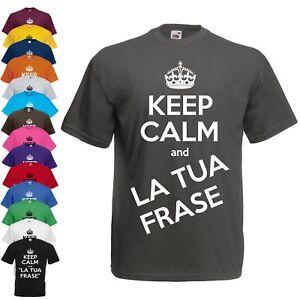 T-Shirt-Keep-Calm-Personalizzata-Maglietta-personalizzabile
