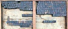 Lot O 193 Antique Wood Letterpress Print Type Block Letter Number 1116 Vintage