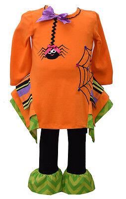 Bonnie Jean Girls Halloween Spider Web Fall Tutu Dress Leggings 12M 18M 24M