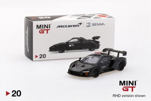#00020-l mini GT mclaren senna Onyx Black LHD 1:64