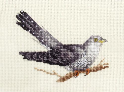 COMPLET counted cross stitch kit jardin oiseau tous les matériaux inclus Coucou