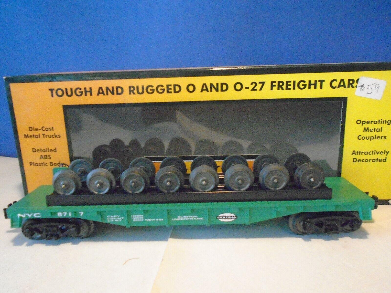 MTH Railking 30-76694 New York Central plana coche con juego de ruedas