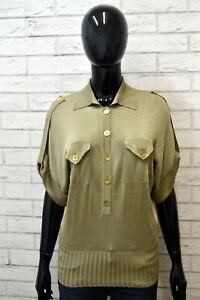 Maglia-Vintage-Donna-LUISA-SPAGNOLI-Taglia-S-Pullover-Blusa-Manica-Corta