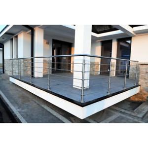 edelstahl gel nder bausatz relinggel nder rostfrei balkongel nder 42 4 12 v2a ebay. Black Bedroom Furniture Sets. Home Design Ideas