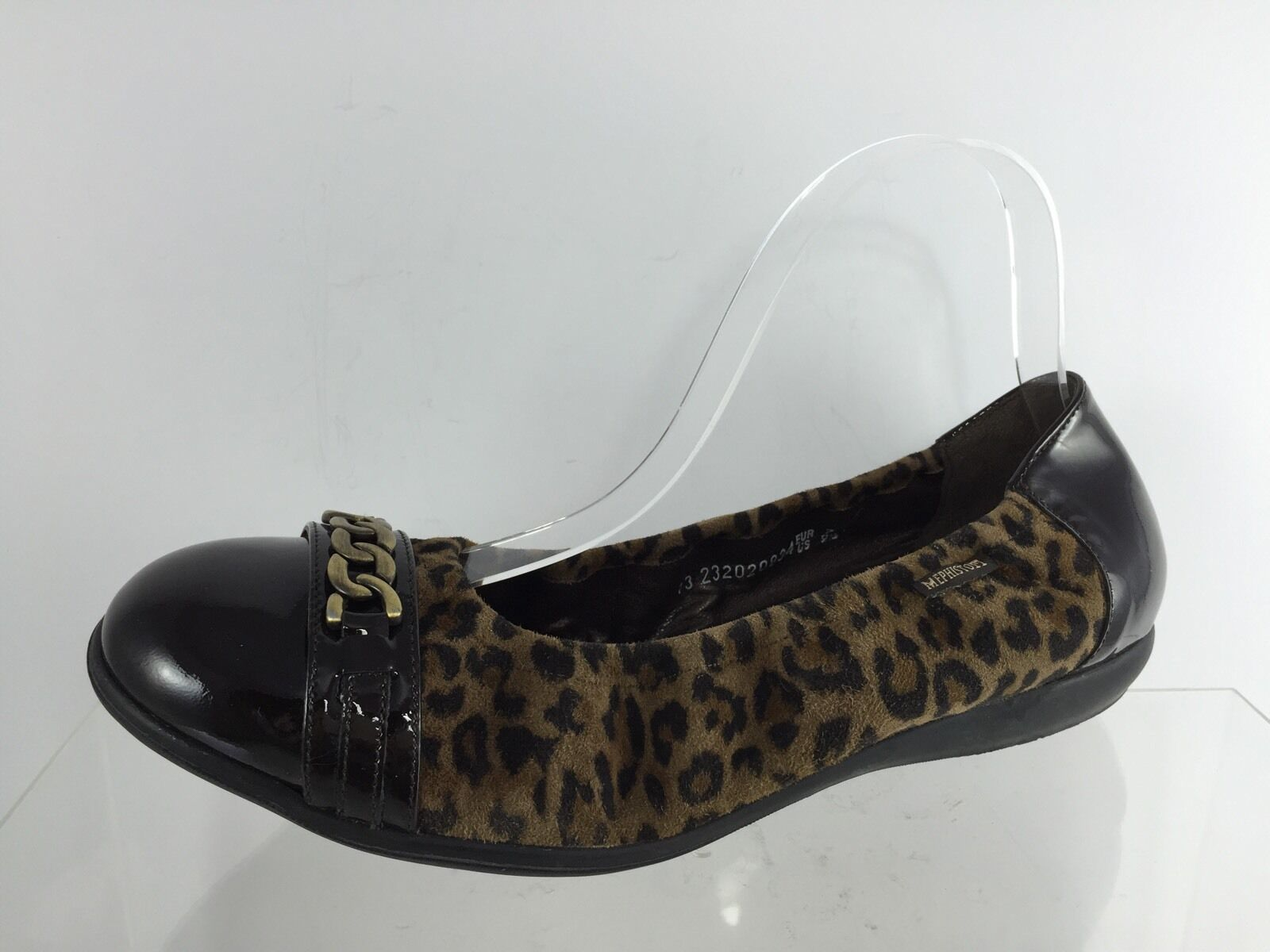 vendita calda Mephisto Mephisto Mephisto donna Cheetah Textured Leather Flats 9.5  vendita scontata