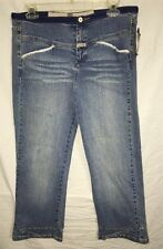 Marithé Francois Girbaud..Women's New Cropped X.. LT. Blue.. Size 29.. NWT