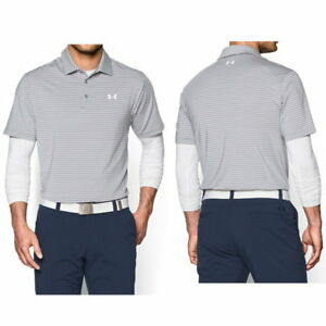 fd5bcd9fe New UNDER ARMOUR heatgear Striped Loose Fit Playoff Polo Golf SHIRT ...