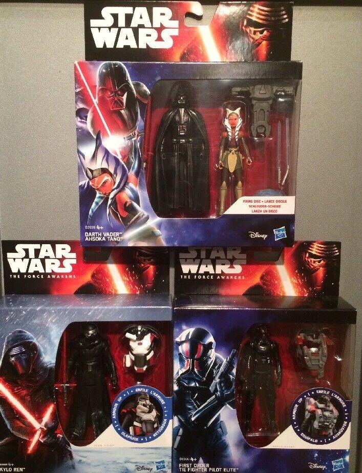 2015 Star Wars Force Awakens - Vader & Ashoka Yano - Kylo & Tie Fighter ⭐️MINT⭐️