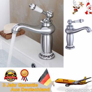 Nostalgie-Retro-Wasserhahn-Einhebelmischer-Waschbecken-Armatur-Mischbatterie-Bad
