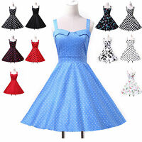 Summer Vintage 1950s Style Floral/ Polka Dots Swing CIRCLE Party Dress Plus Size