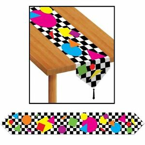 1 8 M Arcade Party Shapes Table Runner 6ft Long 1980 S Table