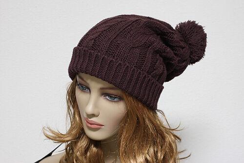 Knit Oversize Winter Hat Men/'s Women/'s Baggy Beanie Ski Pom Pom Cap Stripes New