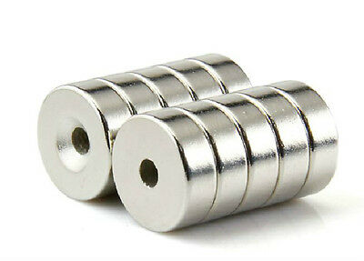 20pcs Strong Ring Magnet D:7*4mm Countersunk Hole:2mm Rare Earth Neodymium N50