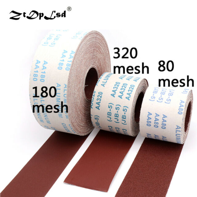 Hand Tear Emery Cloth Roll 80-800 Grit  Grinding Polishing Tools  Sandpaper