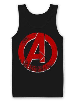 The Avengers Distressed A Logo Official Marvel Infinity War Black Mens Vest