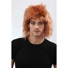Ginger Men's Shaggy Mullet Wig - 80s Rocker Punk Fancy Dress Costume