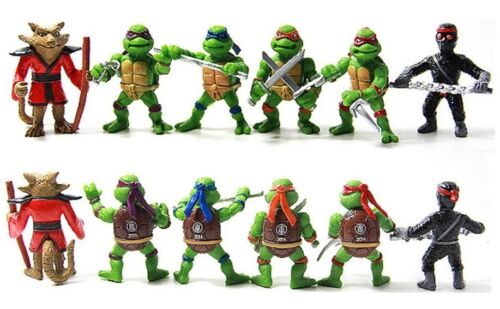 USA SELLER* Toy Doll Set Ninja Turtles Splinter Playset 6 Figure Cake Topper