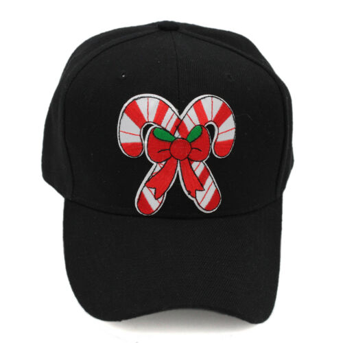 New Christmas Winter Patches Dad Hat Black Baseball Cap Adjustable Unconstructed