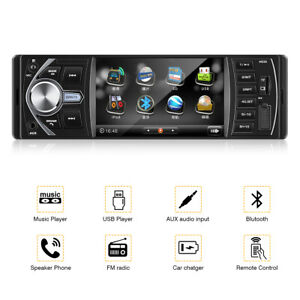 "4"" 1DIN Car Media Player AUTORADIO STEREO RADIO MP3 LETTORE FM USB SD AUX BT IT"