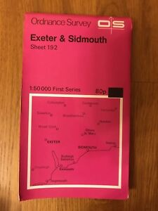 Ordnance-Survey-Map-Sheet-192-Exeter-And-Sidmouth