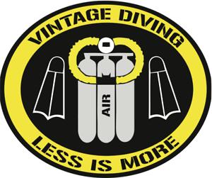 Sticker Decal SCUBA Diver US Navy Vintage Helmet twin hose Old School Diving