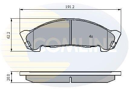 5 YEAR WARRANTY Comline Front Brake Pad Set CBP01175 BRAND NEW GENUINE