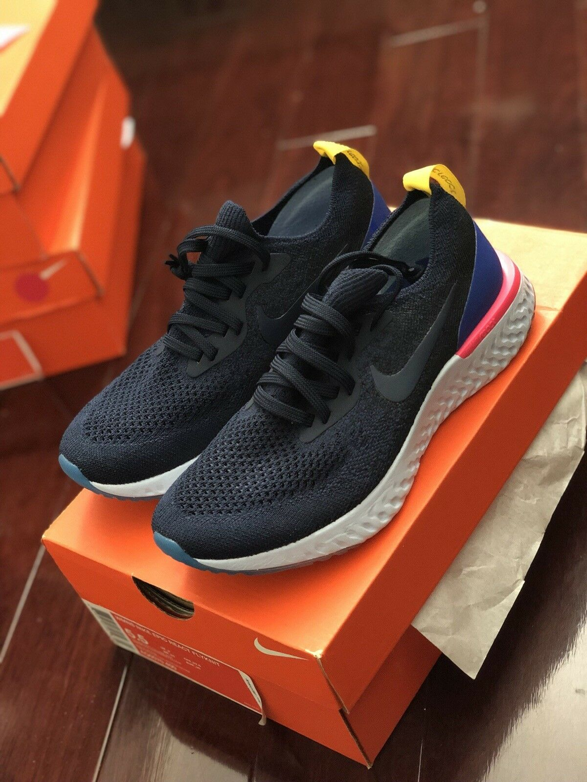 Nike Epic React Womens Size 5.5 College Navy OG colorway Rare NEW