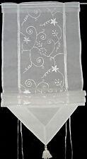 RAFFROLLO v. HOSSNER, ORGANDY, LANDHAUS, Stickerei, 120/160 cm (Br. x Höhe)
