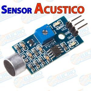 Modulo sensor detector acustico sonido o voz - Arduino Electronica DIY