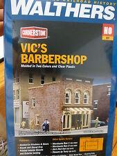 "Walthers Cornerstone HO #933-3471 Vic's Barber Shop -- - 2-1/2 x 3-1/2 x 3-3/8"""