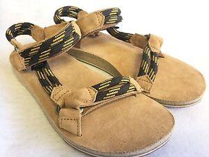 022e18e820e8 Teva Women s Original Universal Rope Suede Footbed Sandals Black ...