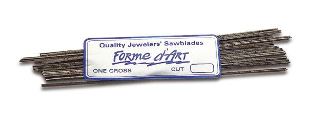 Jewelry Making Saw Blades # 2/0 FORME D'ART Sawblade for Jewelers  Saw Frame 144