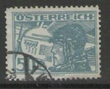 AUSTRIA SG629 1925 50g BLUE AIR STAMP FINE USED