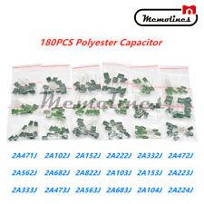 180pcs 18 Values Polyester Film Capacitor 63 630v Assortment Electrolytic Kit