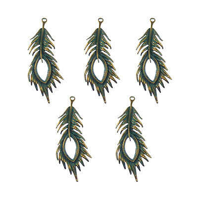 Antique Silver Tibetan Metal alloy FEATHER Charms Pendant Beads Crafts Cards