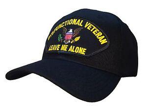 "The Original ""Dysfunctional Veteran"" Hat Black Ball Cap MADE IN USA!"