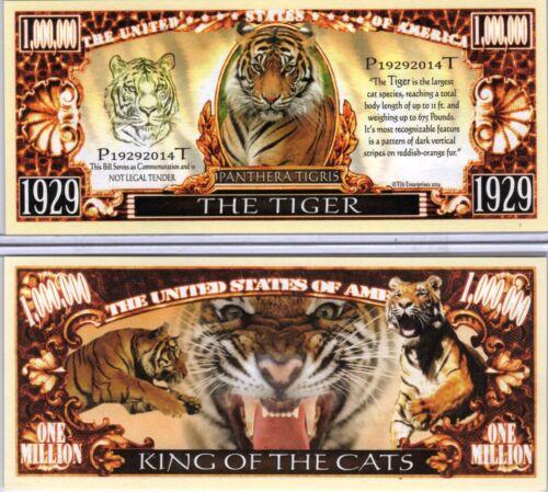Panthera Series Million Dollar Novelty Money The Tiger