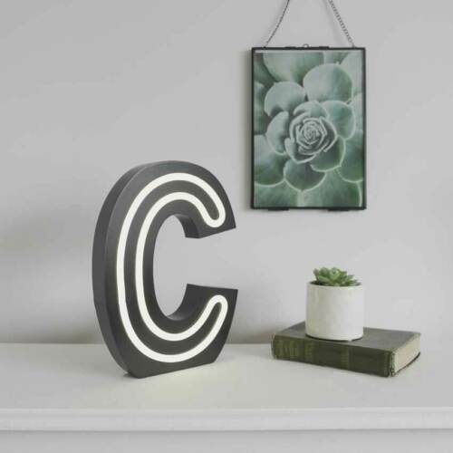 25cm Battery Power Alphabet LED Light Up Neon Circus Letter with TimerA-Z