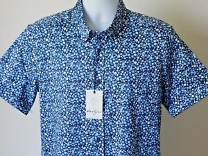 Robert Graham Mens Paladin Short Sleeve Slim Fit Shirt