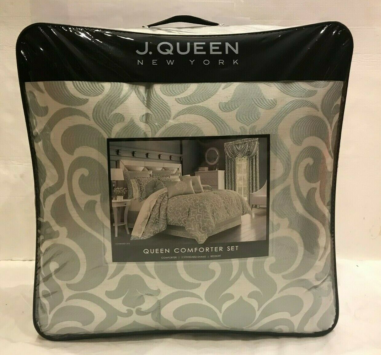 J. QUEEN NEW YORK LOMBARDI SPA QUEEN COMFORTER SET. BRAND NEW    299.99 TAG