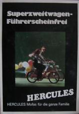 Motorrad Prospekt Hercules Mofas für die ganze Familie