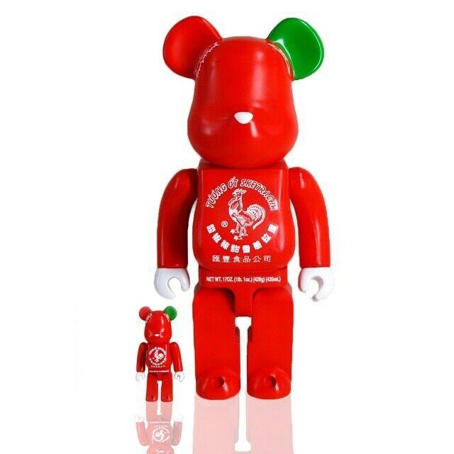 Medicom Be@rbrick BAIT Sriracha 100% 400% Bearbrick Figure Set