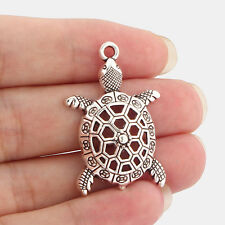 40pcs Tibetan silver charm sea turtle Tortoise Pendants pendant B66