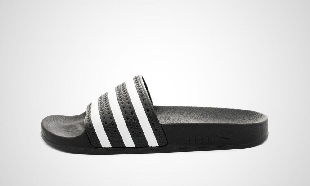 Adidas Adilette (noir/blanc) - Neuf