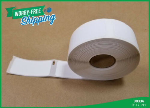 1 x 2-1//8 Inches Dymo Compatible 30336 Adhesive 5 Rolls 500 Labels p//r