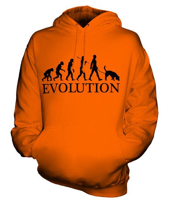 BLOODHOUND EVOLUTION DES MENSCHEN UND HUND HUND HUND UNISEX KAPUZENPULLOVER HERREN DAMEN  | Gemäßigten Kosten  | Flagship-Store  | Neueste Technologie  d66387