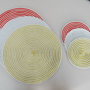 4-8PCS-Round-Washable-PP-Woven-heat-Insulation-Placemats-Pad-kitchen-Table-mats