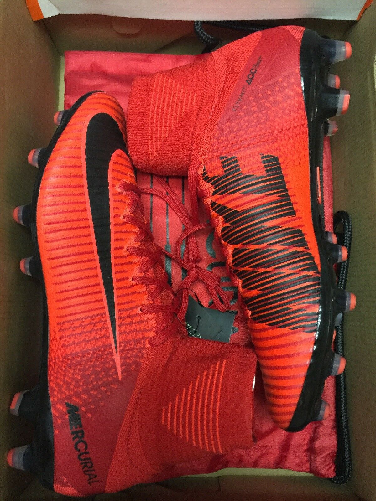 Nike Mercurial Superfly V DF AG-Pro,  Red And Black SIZE 10 New W out Box  305