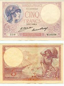 5 Francs ( Violet ) Du 16-7-1928 W.35256 Numéro 881399330 V8okx3hw-07222233-171898327